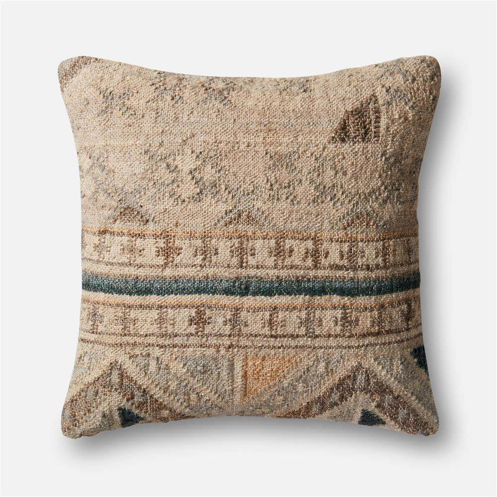 Loloi Rugs P1030 Beige / Blue Pillow