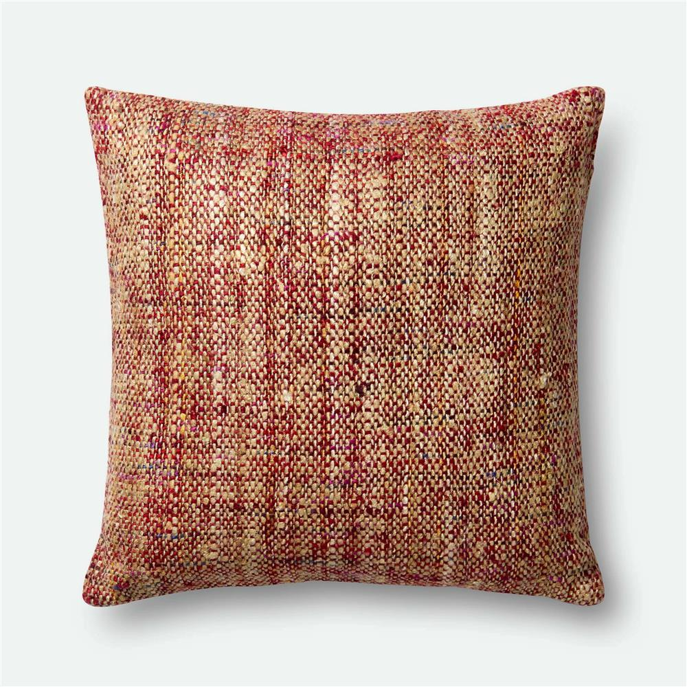 Loloi Rugs P0382 POLY SET Pillow in Red / Multi