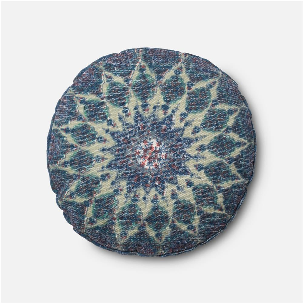 Loloi Rugs P0408 DSET Pillow in Blue / Teal