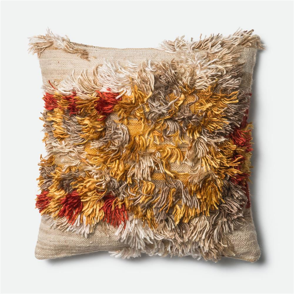loloi rugs p0413 dset pillow in camel sunset