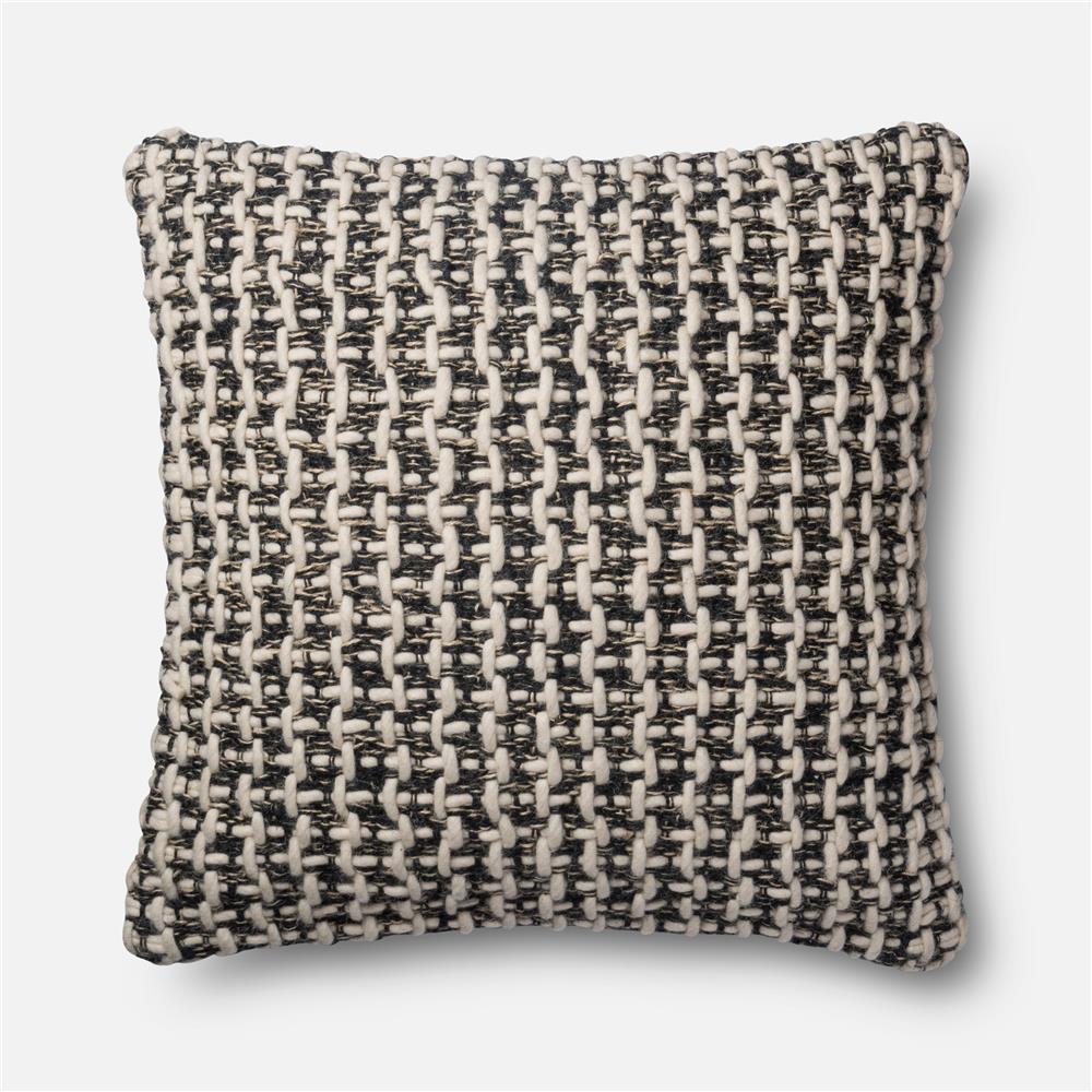 Loloi Rugs P1017 Black / White Pillow