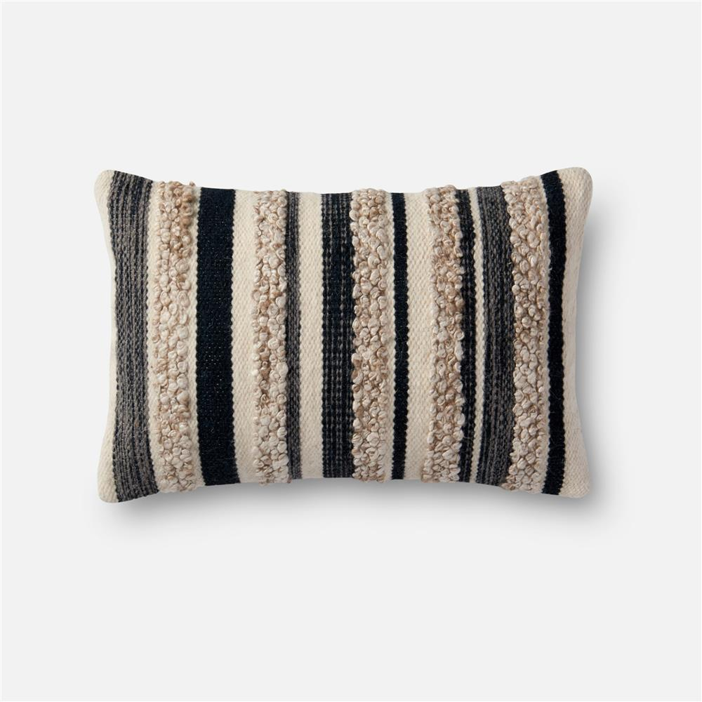 Loloi Rugs P1022 Charcoal / Ivory Pillow