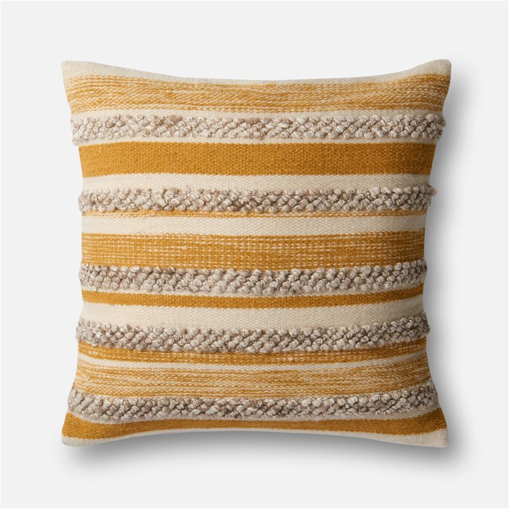 Loloi Rugs P1022 Gold / Ivory Pillow