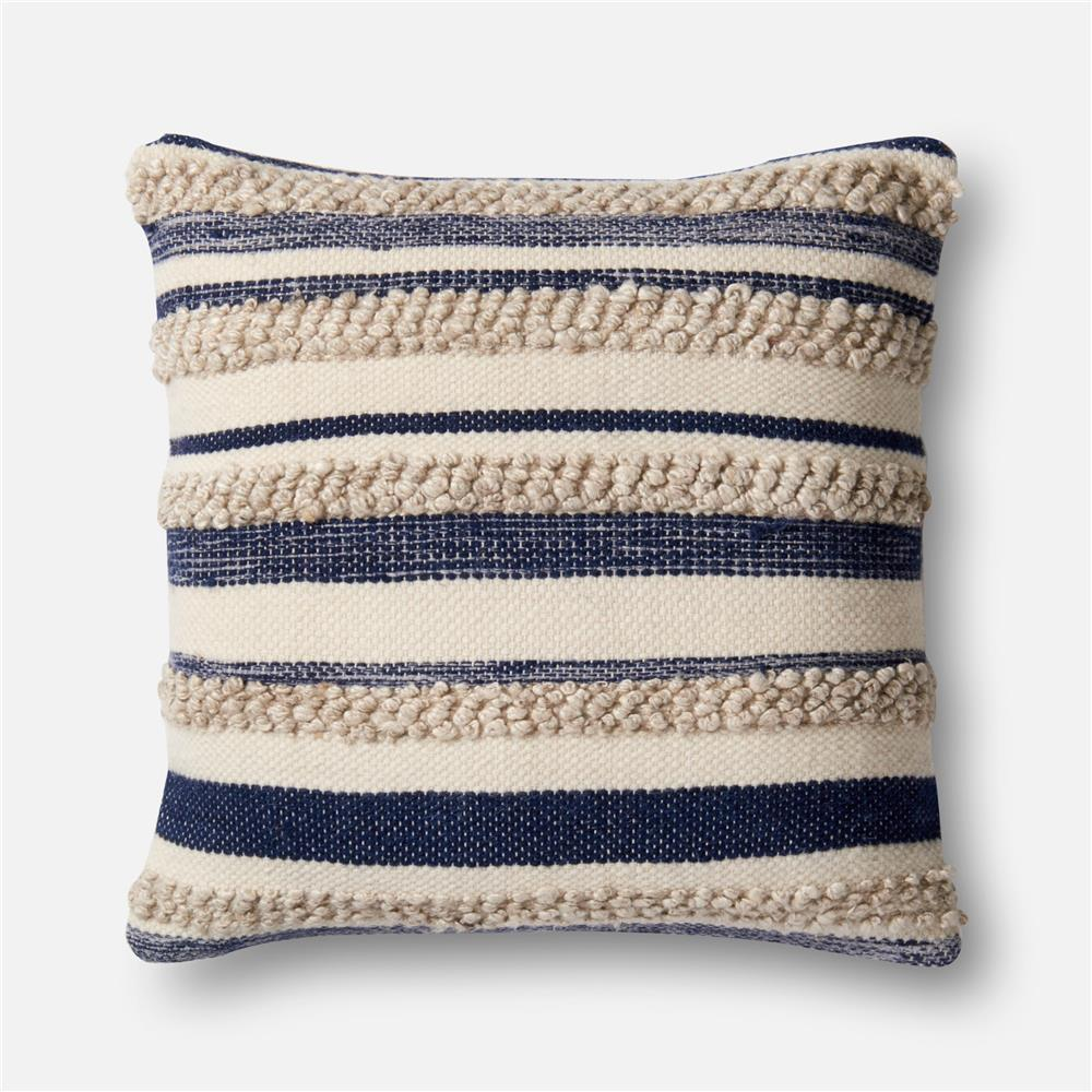 Loloi Rugs P1022 Navy / Ivory Pillow