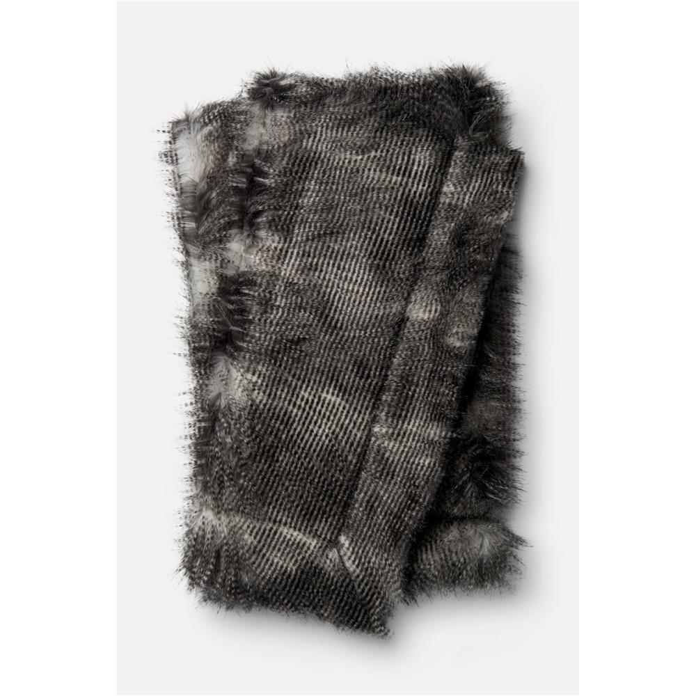 Loloi Rugs T0023 Zora Throw in Black / Grey
