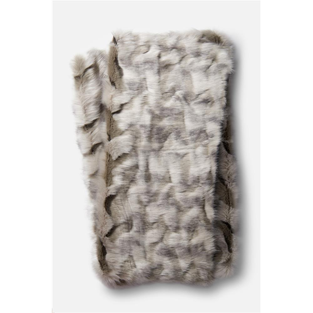 Loloi Rugs T0026 Zora Throw in Grey