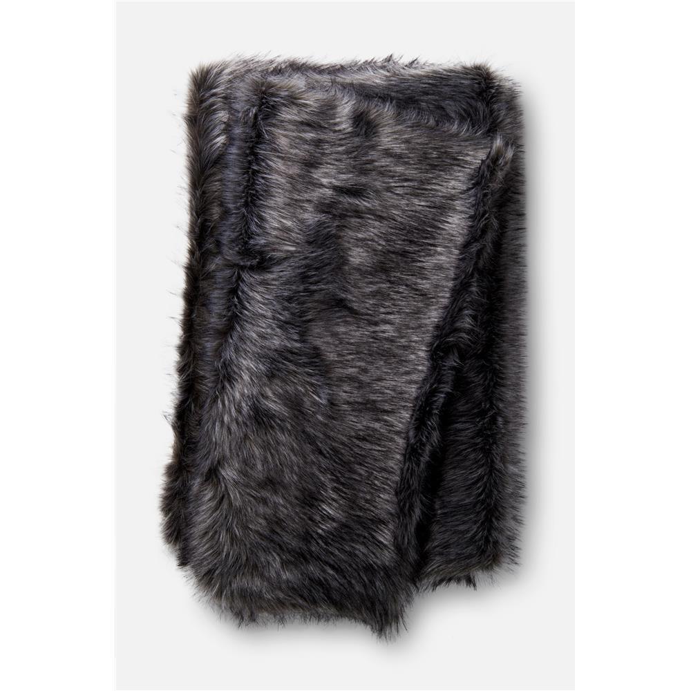 Loloi Rugs T0028 Zora Throw in Black / Grey