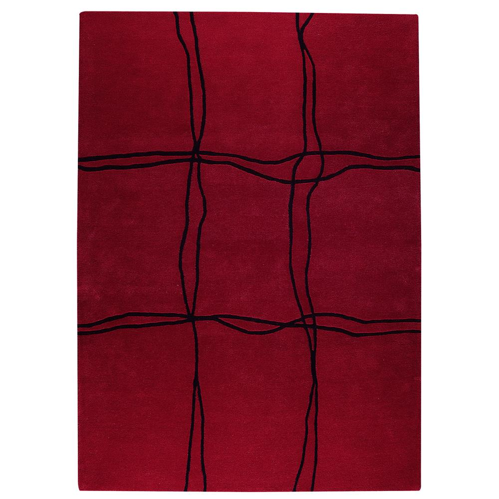 MAT The Basics MTBAMSRED030054 Hand Tufted in Pure New wool Rug in Red