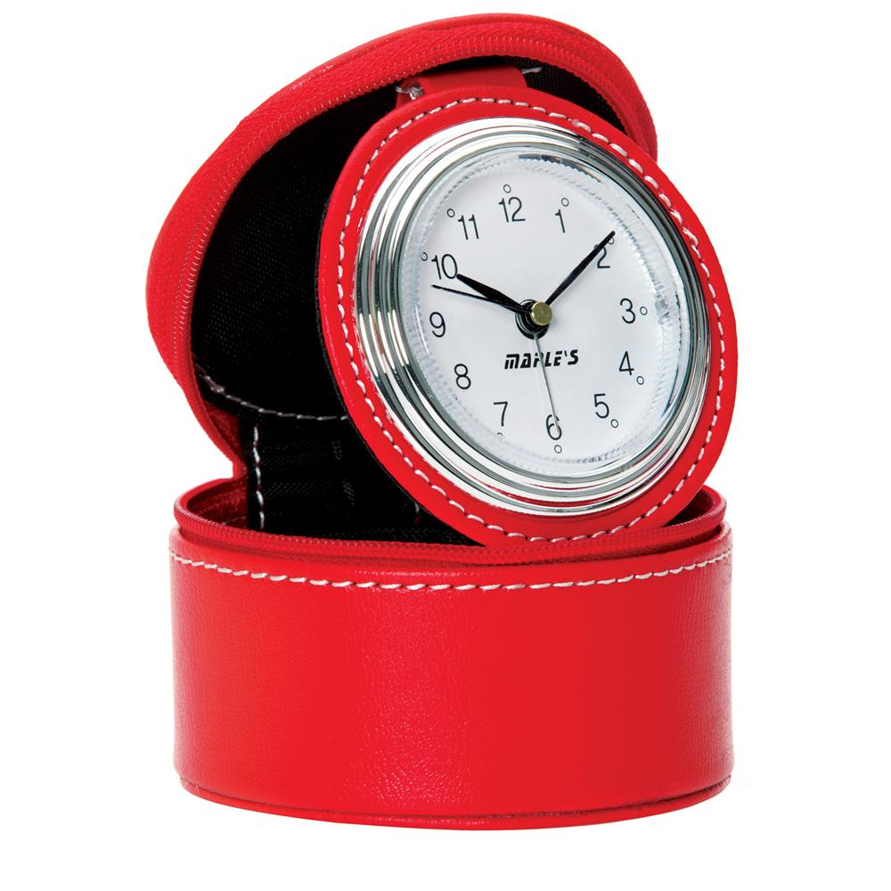 Maples S1020 Travel Table Alarm Clock in Red