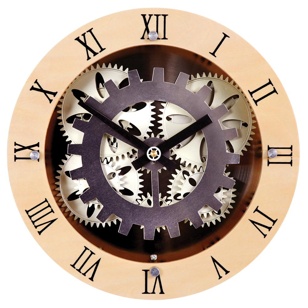 gcly22w maples gcly22w 12quot moving gear wall clock with