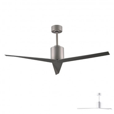 Matthews Fan Company EK-BN-BN Eliza Three Bladed Paddle Fan in Brushed Nickel With Brushed Nickel Blades