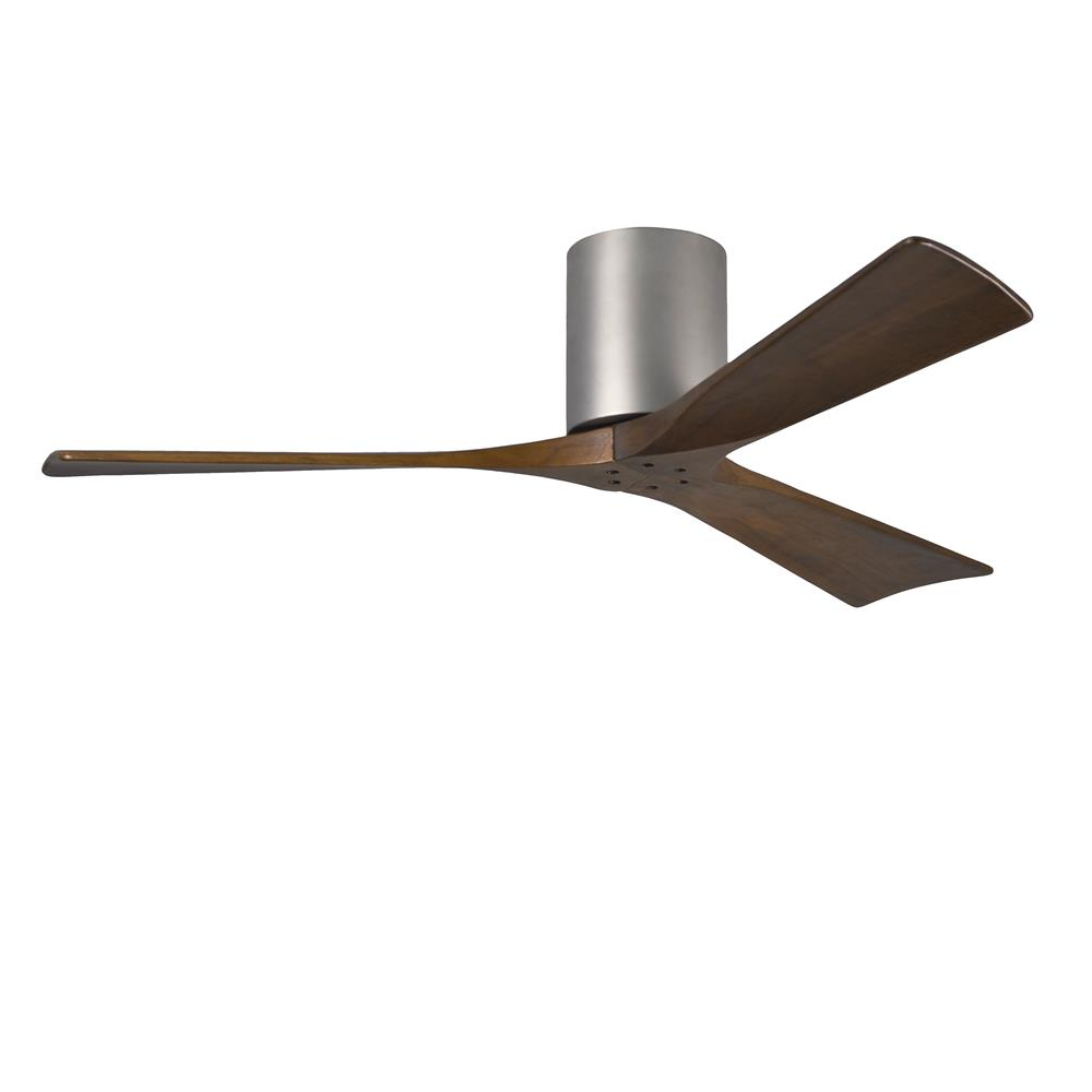 Matthews Fan Company IR3H-BN-52 Irene - 3 Three Bladed Paddle Fan in Brushed Nickel