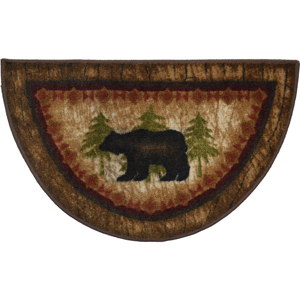 "Mayberry CC5275 COZY CABIN 19""x31"" Cozy Cabin Birch Bear Brown"