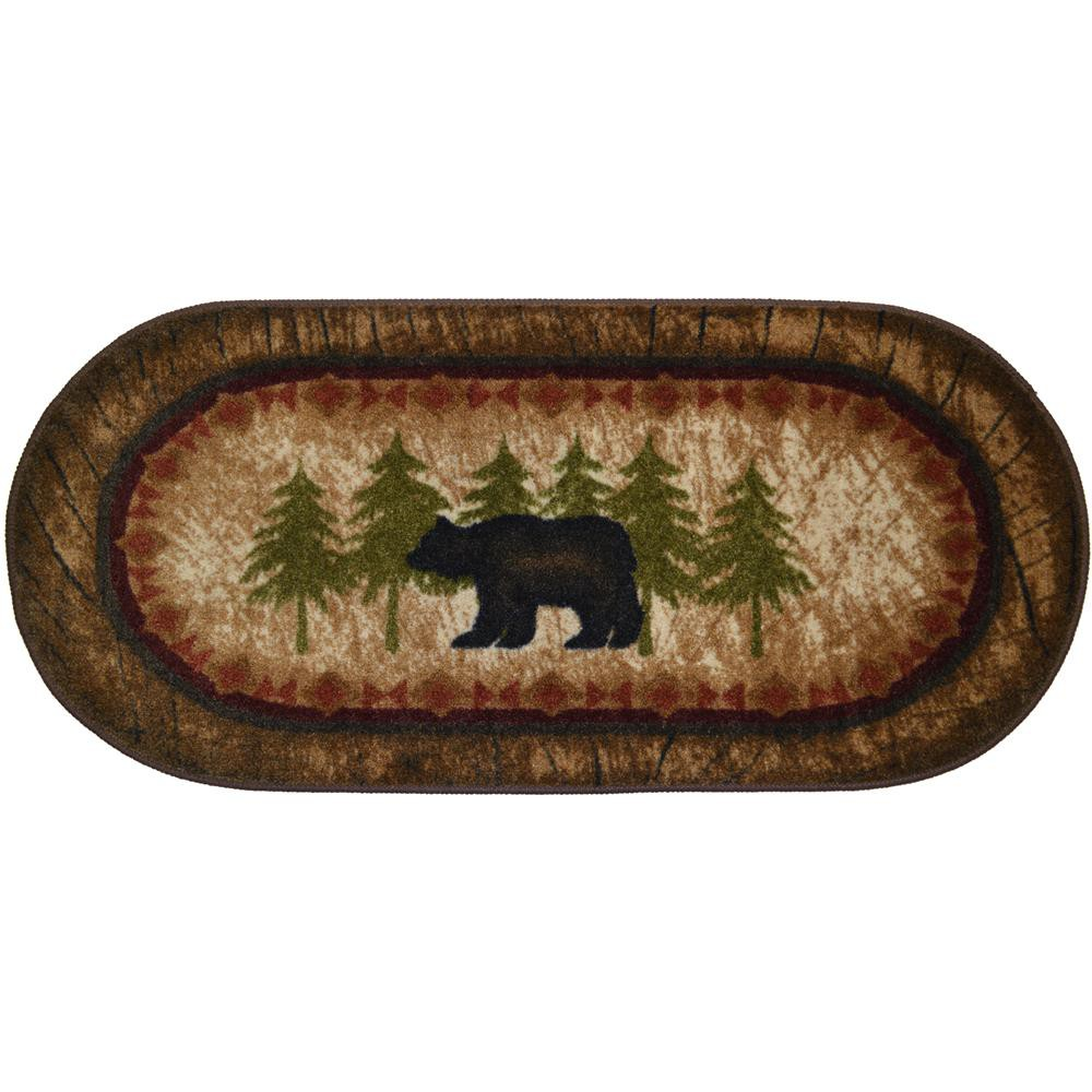 "Mayberry CC5276 COZY CABIN 20""x44"" Cozy Cabin Birch Bear Brown"