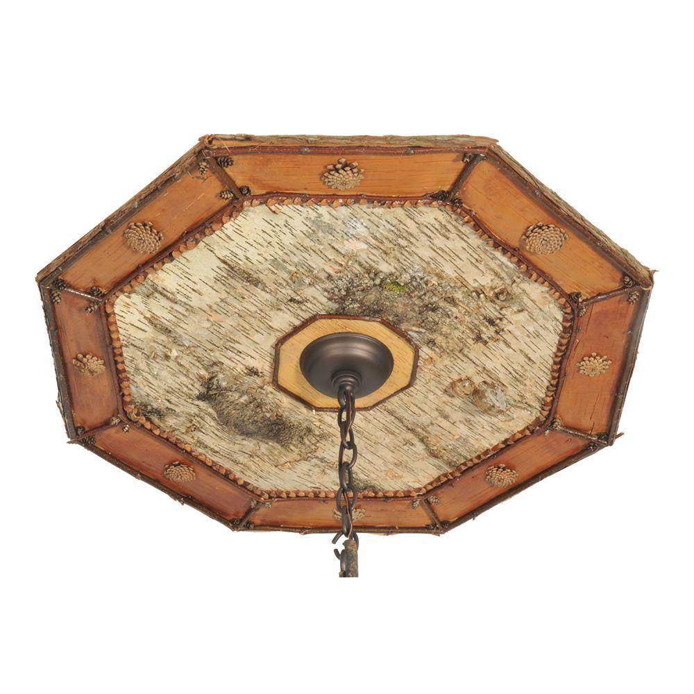 """Meyda Tiffany Lighting 111466 34""""W Birchwood Ceiling Medallion"""