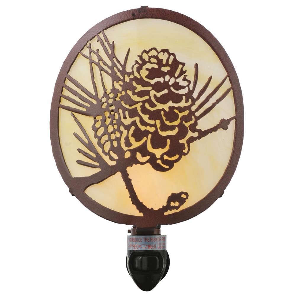"Meyda Tiffany Lighting 111477 5.5""W X 8""H Winter Pine Night Light"