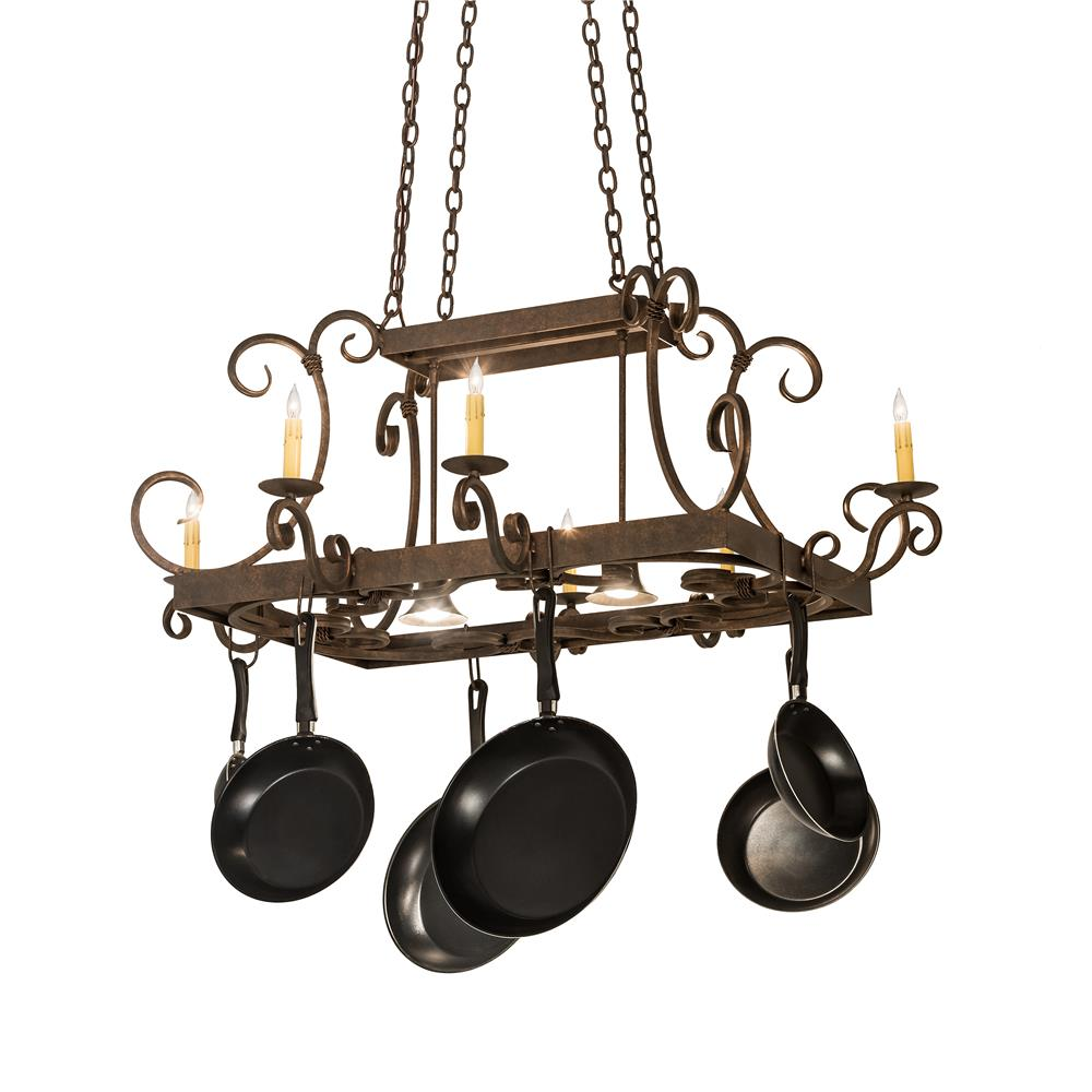 All The Rages  Light Kitchen Pot Rack