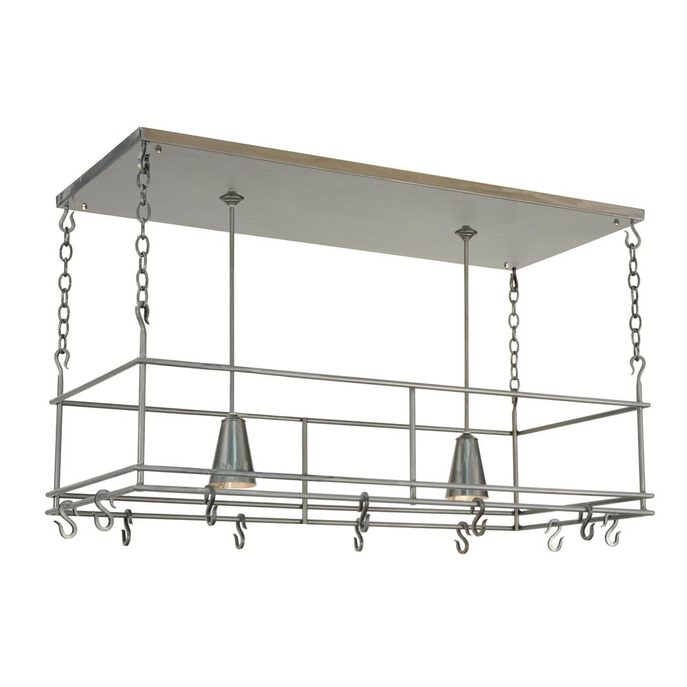 "Meyda Tiffany Lighting 121711 48""L Spartan Pot Rack"