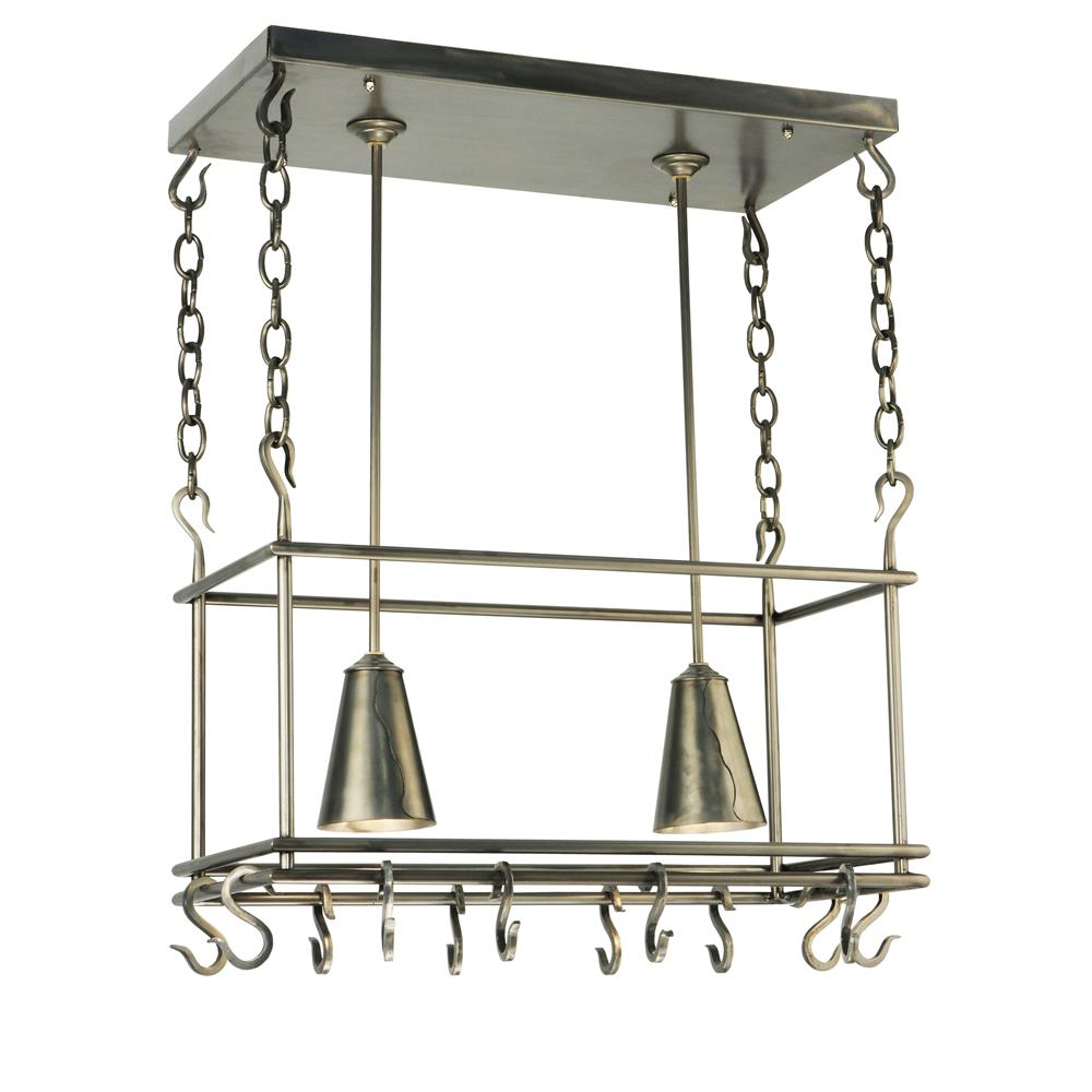 "Meyda Tiffany Lighting 123933 26""L Spartan Pot Rack"
