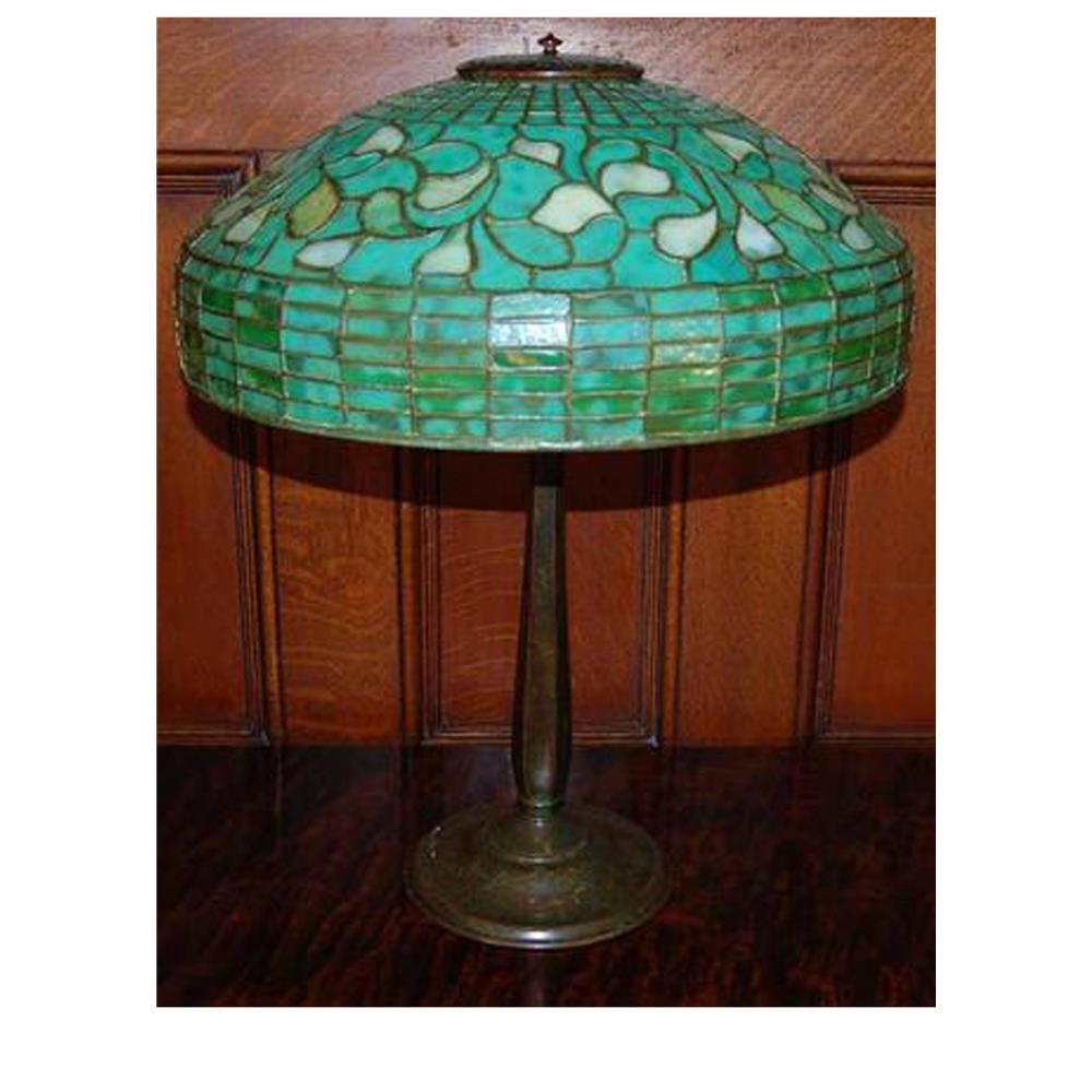 meyda tiffany lighting original tiffany turning leaf table lamp - Meyda Tiffany