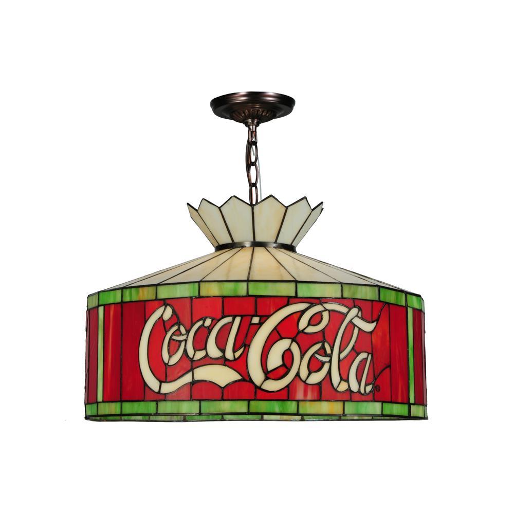 "Meyda Tiffany Lighting 140220 20""W Coca-Cola 230 Volt Pendant"