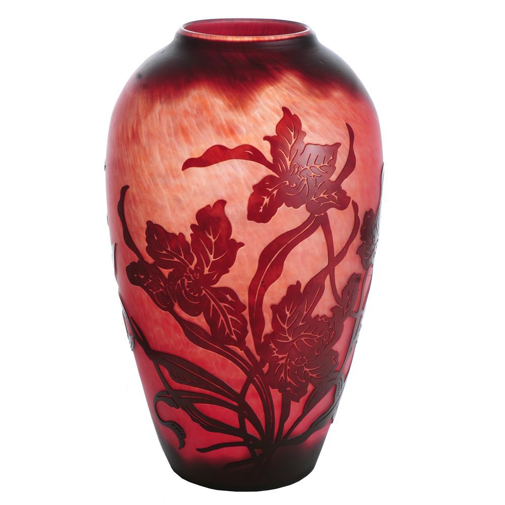 """Meyda Tiffany Lighting 14144 10""""H Galle Day Lily Vase"""