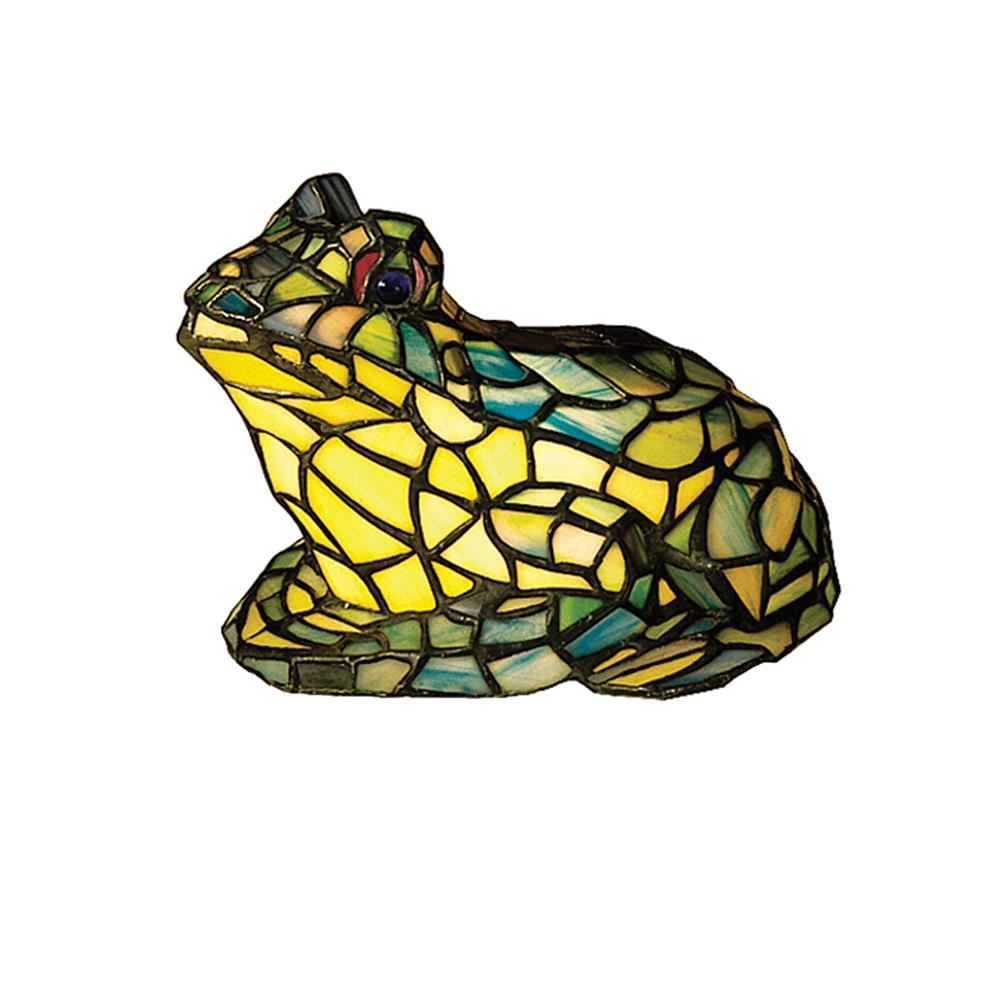 "Meyda Tiffany Lighting 16401 7""H Frog Tiffany Glass Accent Lamp"
