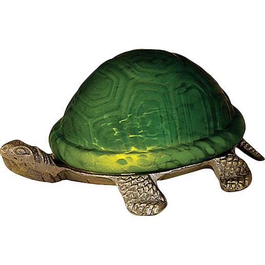 "Meyda Tiffany Lighting 18006 4""H Turtle Art Glass Accent Lamp"
