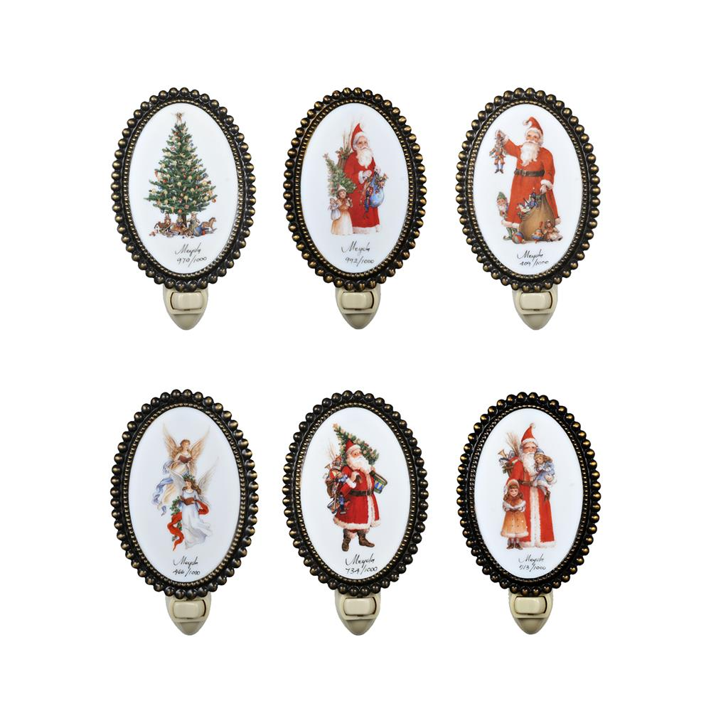 """Meyda Tiffany Lighting 18641 6""""H Christmas 12 Pieces Night Light"""