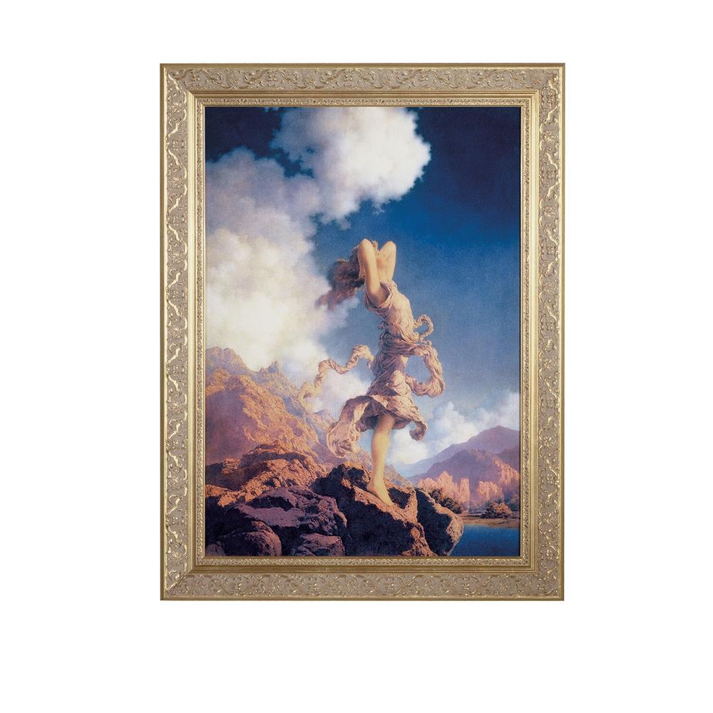 """Meyda Tiffany Lighting 46437 22""""W X 29""""H Maxfield Parrish Ecstacy Framed Art"""
