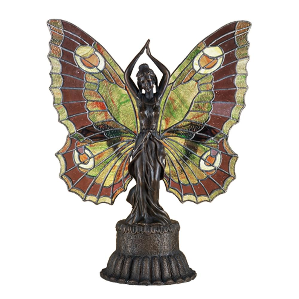 "Meyda Tiffany Lighting 48018 17""H Butterfly Lady Accent Lamp"