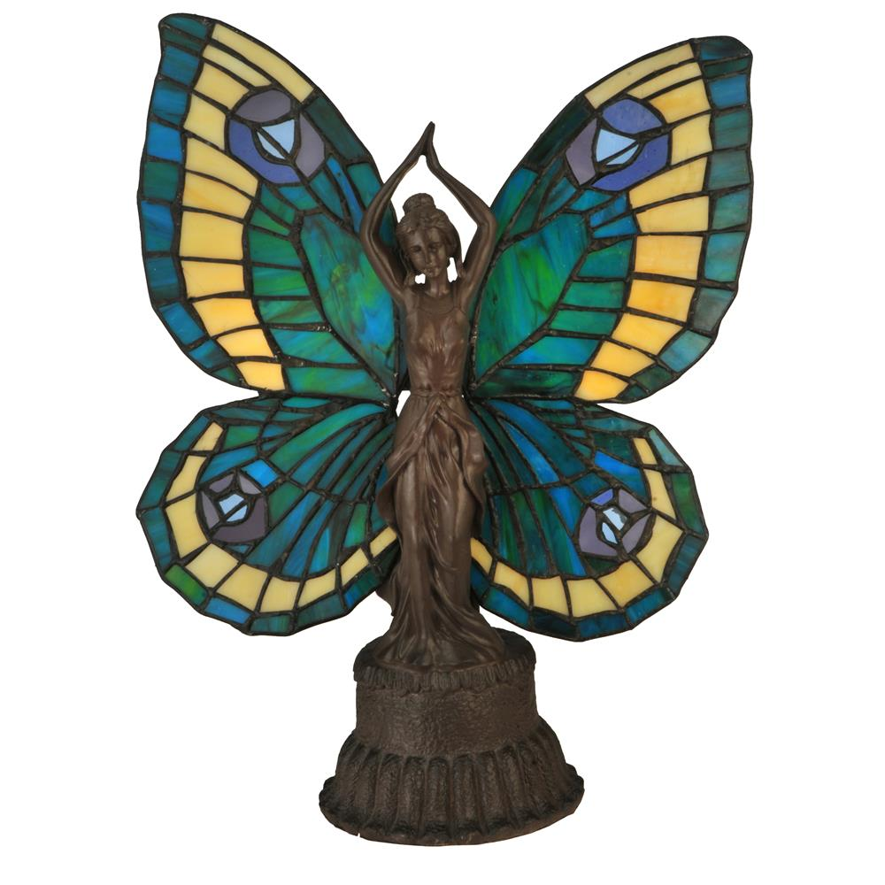 "Meyda Tiffany Lighting 48019 17""H Butterfly Lady Accent Lamp"