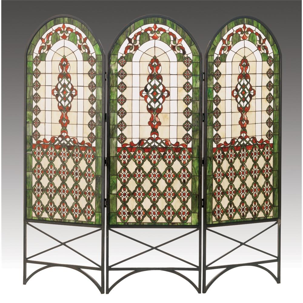 "Meyda Tiffany Lighting 48809 60""W X 58""H Quatrefoil Classical Room Divider"