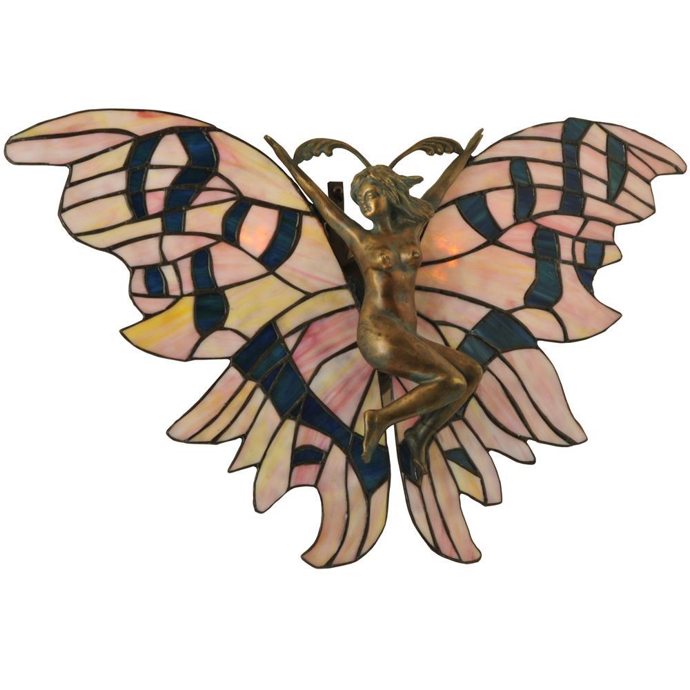 "Meyda Tiffany Lighting 49438 21""W Fairy Wall Sconce"