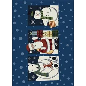 Milliken Holiday Tis The Season Rug in Blue Jay-2.8x3.10 Rectangle