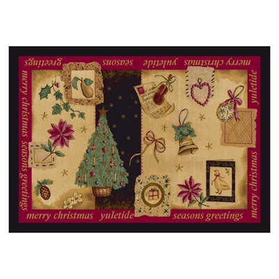 Milliken Holiday Yuletide Rug in Nostalgic-2.8x3.10 Rectangle