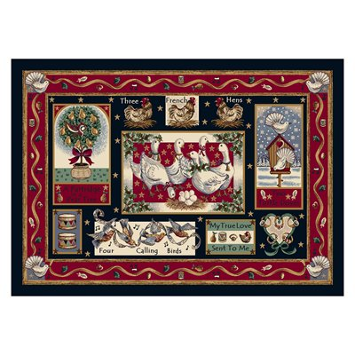 Milliken Holiday Partridge In A Pear Tree Rug in Twelve Days-2.8x3.10 Rectangle