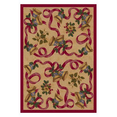Milliken Holiday Bells & Bows Rug in Chimes-2.8x3.10 Rectangle