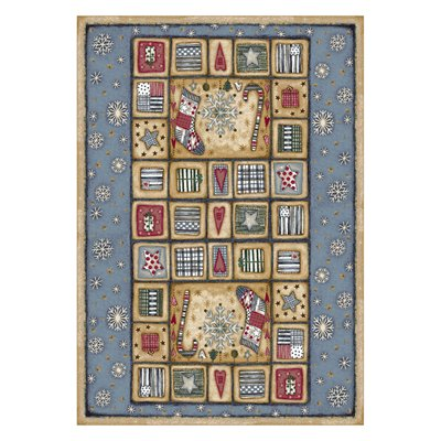 Milliken Holiday Patch Of Snow Rug in Patchwork-2.8x3.10 Rectangle