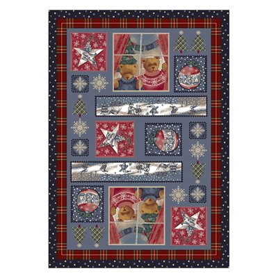Milliken Holiday Christmas Cuddles Rug in Beary-2.8x3.10 Rectangle