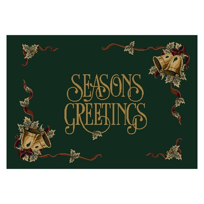 Milliken Holiday Season.s Greetings Rug in Wintergreen-2.8x3.10 Rectangle