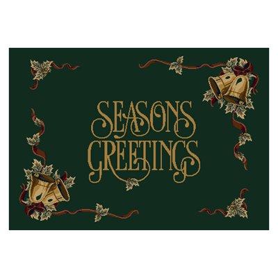 Milliken Holiday Season.s Greetings Rug in Wintergreen-2.8x3.10 Rectangle