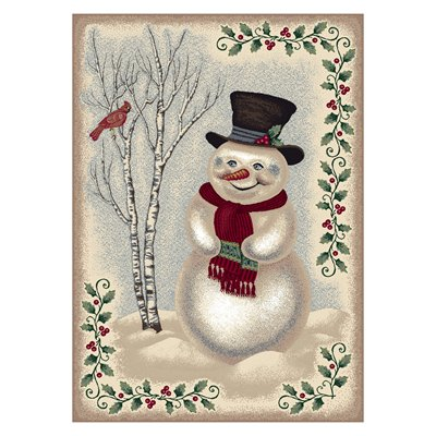 Milliken Holiday Snow Day Rug in Sandstone-2.8x3.10 Rectangle