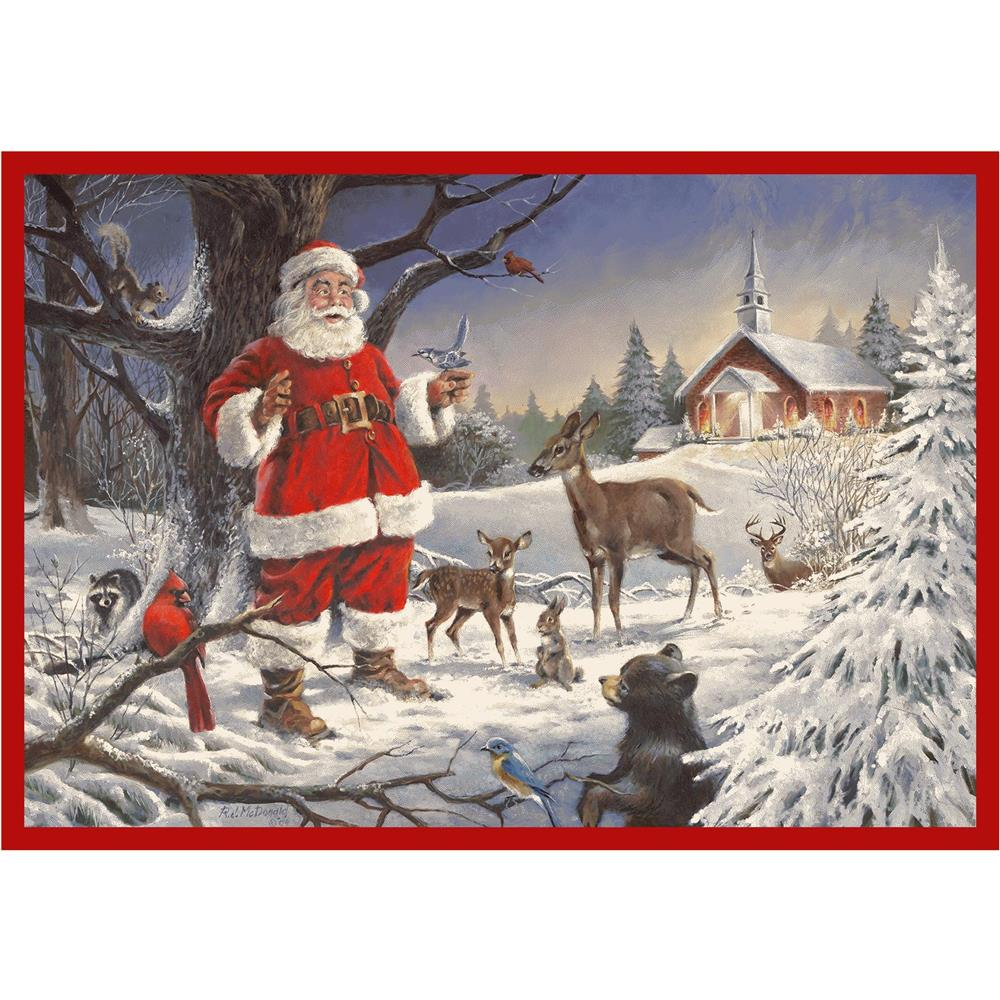 Milliken Holiday Christmas Service Rug in Christmas Service-2.8x3.10 Rectangle