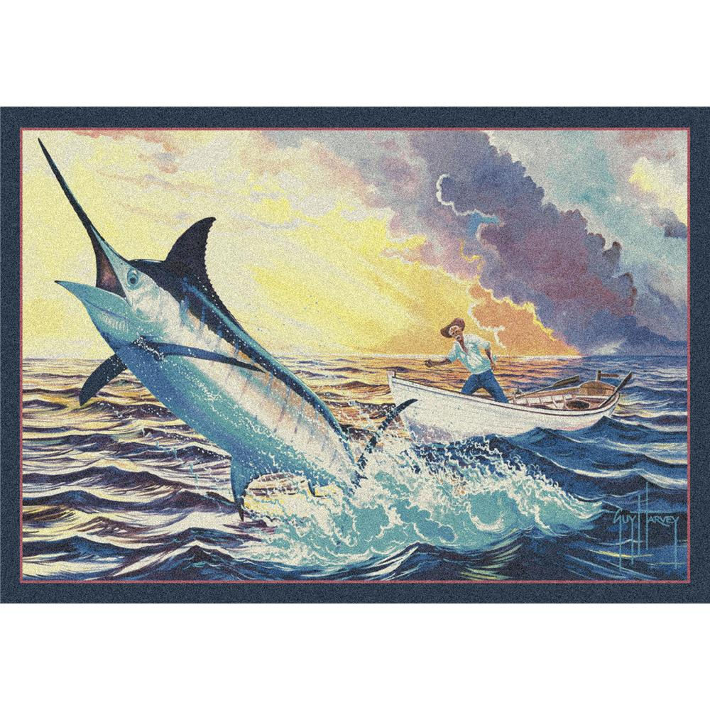 Milliken Guy Harvey Old Man and the Sea Rug-3.10x5.4 Rectangle