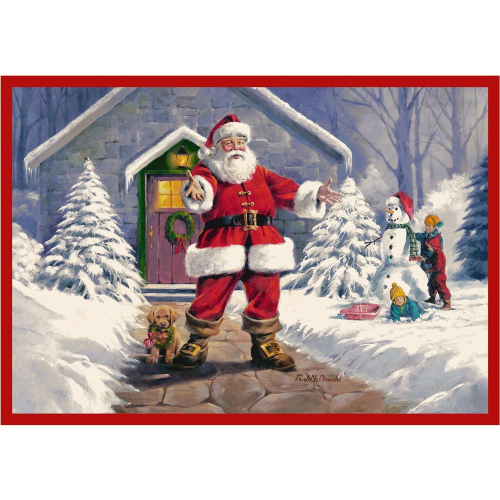 Milliken Holiday Welcome Santa Rug in Welcome Santa-2.8x3.10 Rectangle