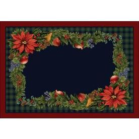 Milliken Holiday Bountiful Rug in Crimson Red-2.8x3.10 Rectangle