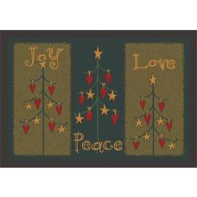 Milliken Holiday Folktree Rug in Winter-2.8x3.10 Rectangle