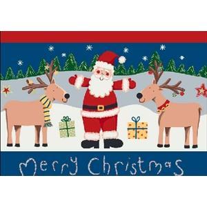 Milliken Holiday Santa Deer Rug in Kringle-2.8x3.10 Rectangle