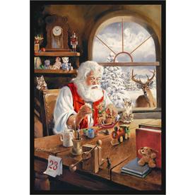 Milliken Holiday Santa Gift Rug in Workshop-2.8x3.10 Rectangle